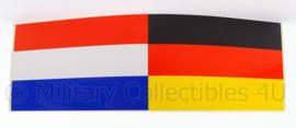 KL Landmacht Nederlands Duitse Korps voertuig sticker - afmeting 16 x 5 cm - origineel