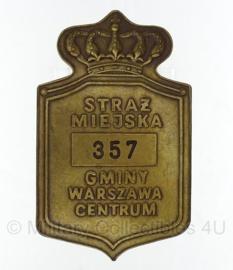 Pools Centrum politie brevet Warschau Straz Miejska gminy Warszawa Centrum - origineel
