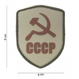 "Uniform landsvlag Rusland schild ""CCCP"" Embleem 3D PVC  -  klittenband -8 x 6 cm"