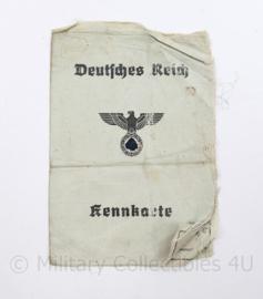Wo2 Duitse Kennkarte uit  1942  -  origineel