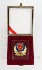 Glazen buro decoratie in doosje - Chinese Politie - origineel in doosje