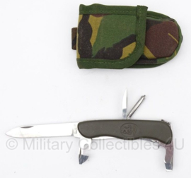 KL Nederlandse leger zakmes Victorinox met woodland tas - licht gebruikt - origineel