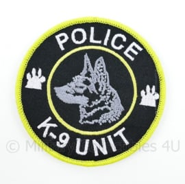 Police K9 K-9 Unit embleem - met klittenband - diameter 9 cm