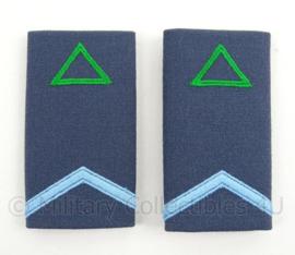 KLu Luchtmacht epauletten rang Soldaat der 2e klasse Opleidingen - per paar - afmeting 5 x 9,5 cm - origineel