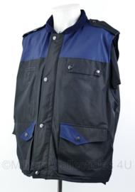 Nederlandse regiopolitie bodywarmer zwart / donkerblauw met rug reflectie - maat Large - origineel