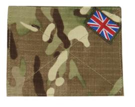 Britse PAAR leger MTP camo klittenband afdekking MTP blanking panel with Union Flag 13 x 10 cm. ONGEBRUIKT - origineel