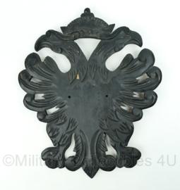Houten wandbord met Russische adelaars - zwart - afmeting 53,5 x 44,5 x 1,5 cm - enorm groot