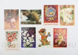 USSR Russische ansichtkaarten set - 8 stuks -15,5 x 10,5 cm - origineel