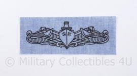 USN US Navy borst insigne voor op het overhemd - 8 x 3 cm - origineel