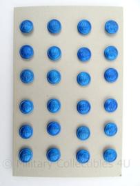 KMAR Marechaussee Luchthavenpolitie knoop - blauw - doorsnede 1,2 cm - prijs per stuk - origineel