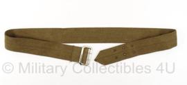 Leger ceintuur / stoffen riem voor Class A DT jas - 50mm - voor om uniform jas - bruin - meerdere maten