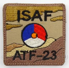 KLu Luchtmacht borst embleem - ISAF International Security Assistance Force - ATF 23 - met klittenband - afmeting 5 x 5 cm - Origineel