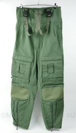 KLU Luchtmacht piloten en ground crew broek met bretels - 93% meta aramide - maat Medium Long - Ongedragen - origineel