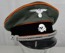 Waffen SS officiers schirmmütze gabardine - semi crusher - polizei - maat 57 tm. 60 cm.
