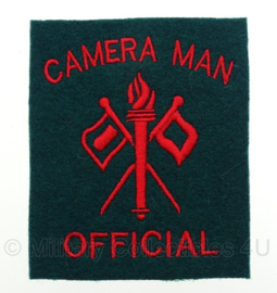 WO2 US Army Camera Man Official embleem - 8,4 x 9,7 cm - replica