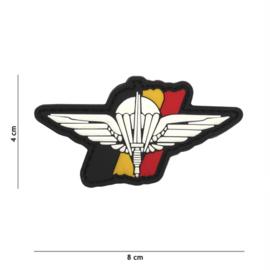 Embleem 3D PVC met klittenband - Para Wing België - 8 x 4 cm.