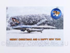 Klu Luchtmacht kerstkaart 313 Squadron 313 Tigers - 15 x 12 cm - origineel