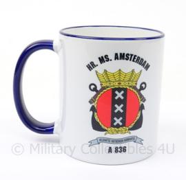 KM Koninklijke Marine drinkbeker Hr. Ms. Amsterdam A836 - origineel