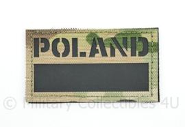 Poolse leger infrarood patch POLAND  - multicam - met klittenband - 5 x 9 cm