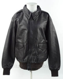 Flight jacket A2 - donkerbruin leder