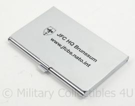Allied Joint Force Command JFC HQ Brunssum Visitekaartjes houder - geschenk - afmeting 9,5 x 6 cm - origineel