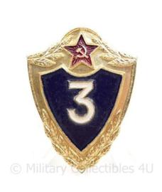 Russische  USSR Army provinciency badge 3RD class - 4 x 3 cm - origineel