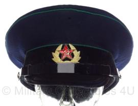 Russische leger platte pet met insigne - blauw met groene bies - maat 57 - origineel