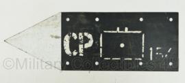 Defensie bord met pijl en tactisch teken - CP 154 -  60 x 20 cm - origineel