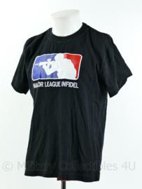 Major League Infidel T-shirt met korte mouw - zwart - maat Medium - gedragen - origineel