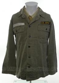 US hbt jas Jackets Herringbone Twill  - size medium - origineel vietnam oorlog