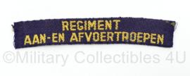 MVO straatnaam enkel - Regiment aan- en afvoertroepen - 12,5 x 2 cm - origineel
