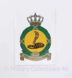 Klu Luchtmacht 640 Squadron sticker - Vrijheid eist waakzaamheid - ongebruikt - 9 x 6,5 cm - origineel