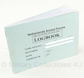 Netherlands Armed Forces Helicopter Handling Logboek - origneel