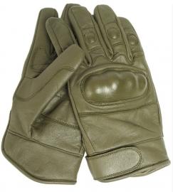 Tactical Glove Handschoen - echt leer - Groen - M of XL