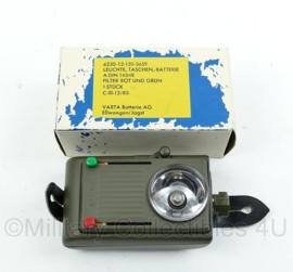 Zaklamp knoopmodel of koppel model - nieuw in doosje - 13,5x7x6 cm - origineel