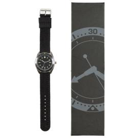 Vintage Duitse Marine Commandant horloge 1960 - zwarte stoffen band