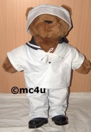 Teddybeer groot 50cm - marine uniform