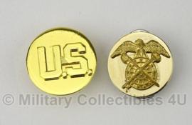 Collar disc set US Quartermaster- Enlisted