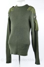 Korps Mariniers wollen trui met straatnaam groen - maat 5 = Large - origineel