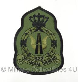 KLU Luchtmacht 922 squadron embleem met klittenband - Optimaal Dienend - origineel