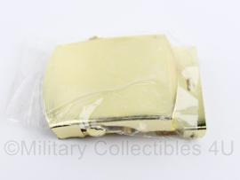 Koninklijke Marine en Korps Mariniers goudkleurige metalen broekriem sluiting -  6 x 4 cm - origineel