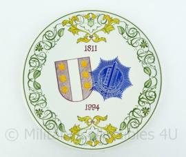 Porseleinen bord 1811-1994 Gemeentepolitie Gouda - 28x28x0,3 cm -origineel