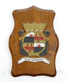 Wandbord Korps Mariniers Sans Reproche van Braam Houckgeestkazerne Doorn - 20 x 14 x 1,5 cm - origineel