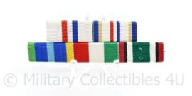 Nederlandse medaille baton voor 5 medailles - Onder andere : HMV / HMV3 / Marinemedaille / onbekend / Kuwait Liberation Medal - 8,5 x 3 cm - origineel