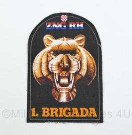 Kroatisch leger embleem ZNG RH 1 Brigada   - origineel