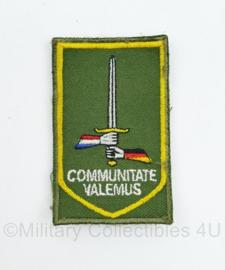 Defensie mouw embleem 1 GE NLD Corps Duits Nederlands korps - met klittenband - 8 x 5 cm - origineel