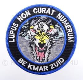 BE Bijstandseenheid KMAR Koninklijke Marechaussee Zuid embleem - met klittenband - diameter 9 cm