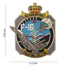 Embleem stof Belgian Army F16 Fighting Falcon - 13,6 x 11,3