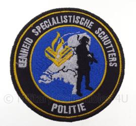 """Nederlandse Politie """"eenheid specialistische schutters"""" embleem -  met klittenband - diameter 9 cm"""