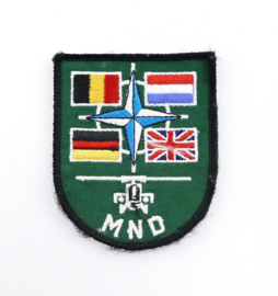 KLU Luchtmacht embleem MND Multi Nationale Divisie  - 9 x 7 cm - origineel